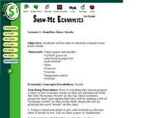 Show Me Economics - Families Have Needs Lesson Plan