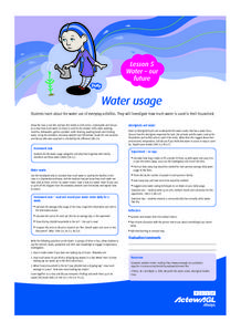 Water Usage Lesson Plan