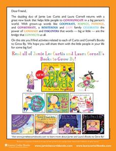 Books by Jamie Lee Curtis and Laura Cornell Lesson Plan