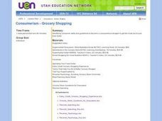 Consumerism - Grocery Shopping Lesson Plan