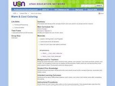 Warm & Cool Coloring Lesson Plan