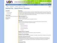 Desktop Pub. - Quark XPress 5: Brochure Lesson Plan