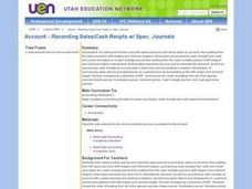 Account --Recording Sales/Cash Recpts w/ Spec. Journals Lesson Plan