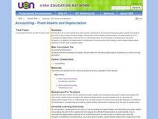 Accounting - Plant Assets and Depreciation Lesson Plan