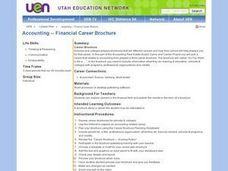 Accounting -- Financial Career Brochure Lesson Plan