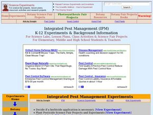 Integrated Pest Management Lesson Plan