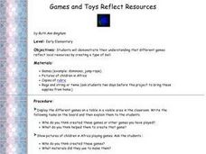 """Resourceful"" Games and Toys Lesson Plan"