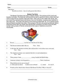 boston tea party worksheet for 4th 6th grade lesson planet. Black Bedroom Furniture Sets. Home Design Ideas