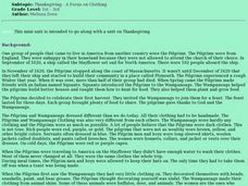 Thanksgiving - A Focus on Clothing Lesson Plan