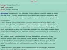 Women's History Week Lesson Plan
