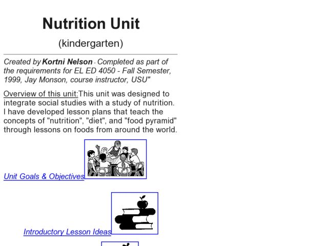 Nutrition: Banquet for the Bunch! Lesson Plan for Kindergarten