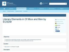 Literary Elements in Of Mice and Men Lesson Plan