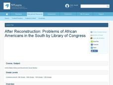 After Reconstruction: Problems of African Americans in the South Lesson Plan