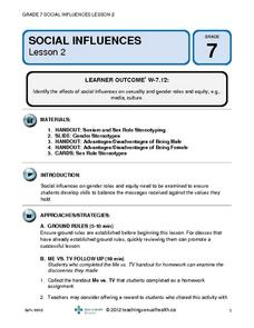 Social Influences (Lesson 2) Lesson Plan