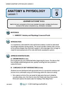 Anatomy and Physiology (Lesson 1) Lesson Plan for 5th Grade | Lesson ...