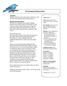 Environment Interactions Lesson Plan