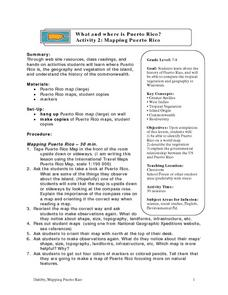 Mapping Puerto Rico Lesson Plan