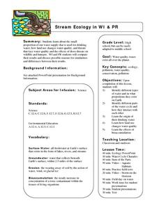 Stream Ecology In Wisconsin and Puerto Rico Lesson Plan