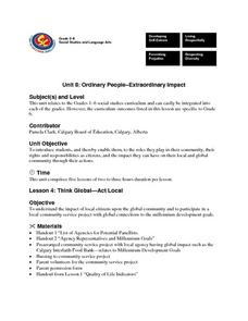 Unit 8: Ordinary People-Extraordinary Impact Lesson Plan