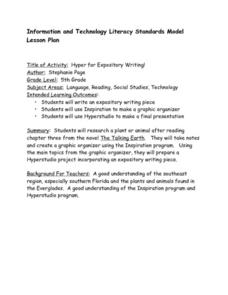 Hyper for Expository Writing! Lesson Plan