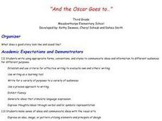 And The Oscar Goes To? Lesson Plan