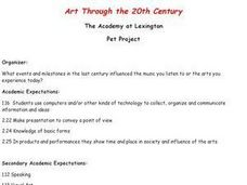 Art Through the 20th Century Lesson Plan