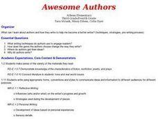 Language Arts:  Awesome Authors Website Lesson Plan