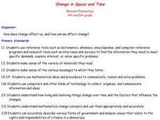 Social Sstudies: Change in Space and Time Lesson Plan
