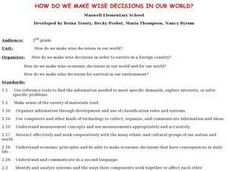 How Do We Make Wise Decisions In Our World? Lesson Plan