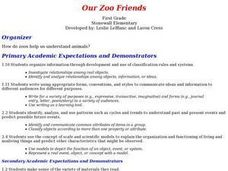 Our Zoo Friends Lesson Plan