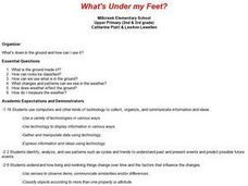 What's Under My Feet? Lesson Plan
