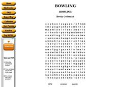 Bowling Worksheet