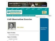 Cell Observation Exercise Lesson Plan
