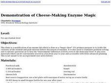 Demonstration of Cheese-Making Enzyme Magic Lesson Plan
