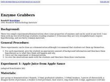 Enzyme Grabbers Lesson Plan