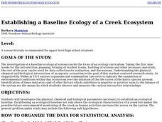 Establishing a Baseline Ecology of a Creek Ecosystem Lesson Plan