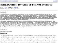 Introduction to Types of Ethical Systems Lesson Plan