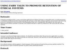 Using Fairy Tales to Promote Retention of Ethical Standards Lesson Plan