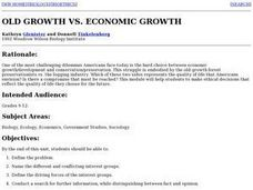 Conservation vs. Economic Growth Lesson Plan