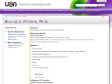 Box and Whisker Plots Lesson Plan