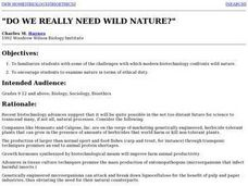 Do we Really Need Wild Nature Lesson Plan