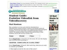 Student Guide: Evolution Videodisk from Videodiscovery Lesson Plan