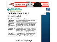 Evolution: Rap It Up! Lesson Plan