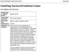 Limiting Factors/Evolution Game Lesson Plan