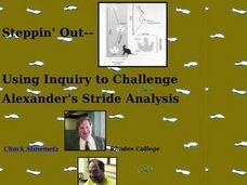 Steppin' Out: Using Inquiry to Challente Alexander's Stride Analysis Lesson Plan
