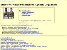 Effects of Water Pollution on Aquatic Organisms Lesson Plan