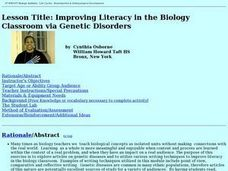 Improving Literacy in the Biology Classroom via Genetic Disorders Lesson Plan