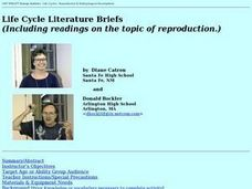 Life Cycle Literature Briefs Lesson Plan