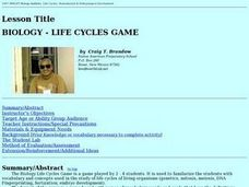 Biology - Life Cycles Game Lesson Plan