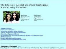 The Effects of Alcohol and other Teratogens: A model using Zebrafish Lesson Plan